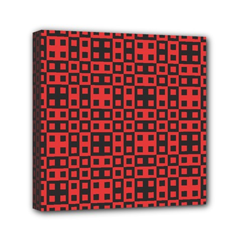 Abstract Background Red Black Mini Canvas 6  X 6  by Nexatart