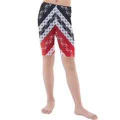Snow Pattern 4 170506 Kids  Mid Length Swim Shorts