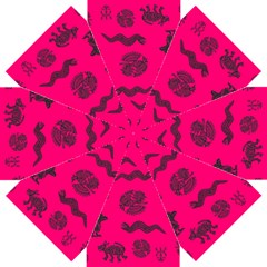Aztecs Pattern Straight Umbrellas by ValentinaDesign