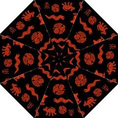 Aztecs Pattern Golf Umbrellas by ValentinaDesign