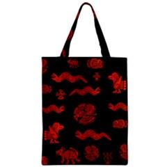 Aztecs Pattern Zipper Classic Tote Bag by ValentinaDesign