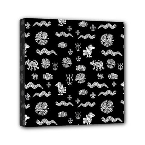 Aztecs Pattern Mini Canvas 6  X 6  by ValentinaDesign