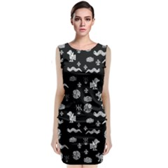 Aztecs Pattern Classic Sleeveless Midi Dress by ValentinaDesign