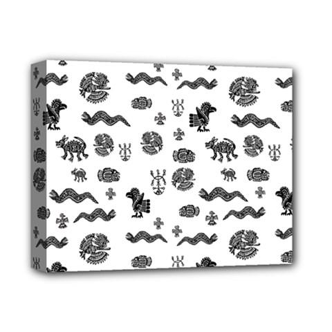 Aztecs Pattern Deluxe Canvas 14  X 11  by ValentinaDesign
