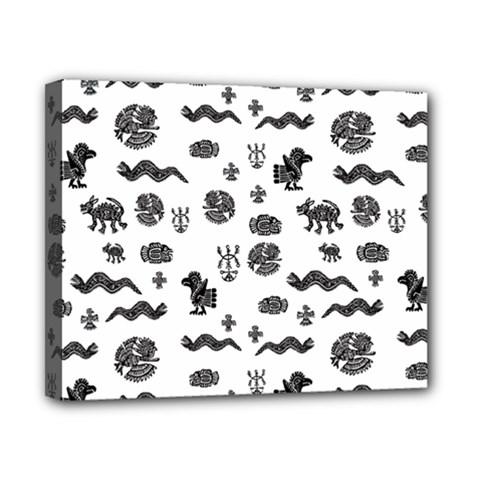 Aztecs Pattern Canvas 10  X 8  by ValentinaDesign