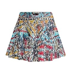 Colorful paint              Mini Flare Skirt by LalyLauraFLM