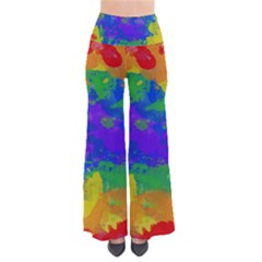 Colorful Paint Texture     Women s Chic Palazzo Pants by LalyLauraFLM