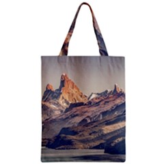 Fitz Roy And Poincenot Mountains Lake View   Patagonia Zipper Classic Tote Bag by dflcprints