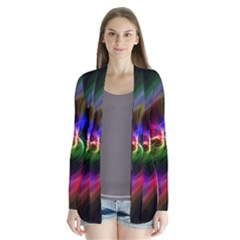 Abstract Art Color Design Lines Cardigans