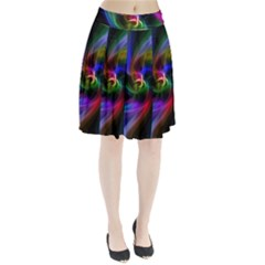 Abstract Art Color Design Lines Pleated Skirt