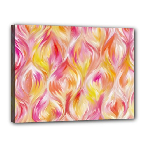 Pretty Painted Pattern Pastel Canvas 16  X 12