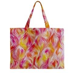 Pretty Painted Pattern Pastel Zipper Mini Tote Bag by Nexatart