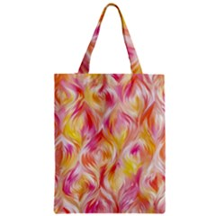 Pretty Painted Pattern Pastel Zipper Classic Tote Bag