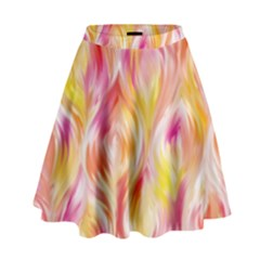 Pretty Painted Pattern Pastel High Waist Skirt by Nexatart