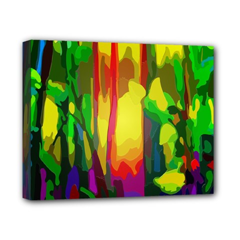 Abstract Vibrant Colour Botany Canvas 10  X 8  by Nexatart