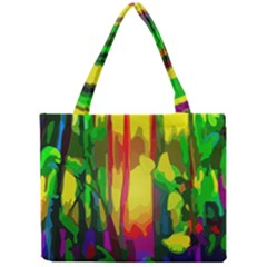 Abstract Vibrant Colour Botany Mini Tote Bag by Nexatart