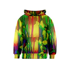Abstract Vibrant Colour Botany Kids  Pullover Hoodie by Nexatart