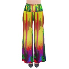 Abstract Vibrant Colour Botany Pants
