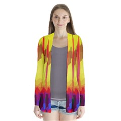 Abstract Vibrant Colour Botany Cardigans