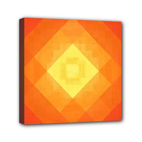 Pattern Retired Background Orange Mini Canvas 6  X 6  by Nexatart