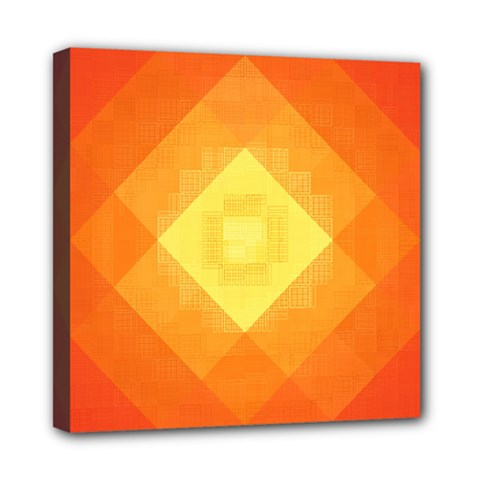 Pattern Retired Background Orange Mini Canvas 8  X 8  by Nexatart