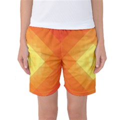 Pattern Retired Background Orange Women s Basketball Shorts
