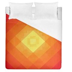 Pattern Retired Background Orange Duvet Cover (queen Size) by Nexatart