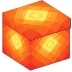 Pattern Retired Background Orange Storage Stool 12   by Nexatart