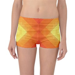 Pattern Retired Background Orange Reversible Bikini Bottoms