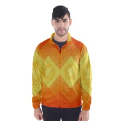 Pattern Retired Background Orange Wind Breaker (men)