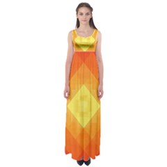 Pattern Retired Background Orange Empire Waist Maxi Dress