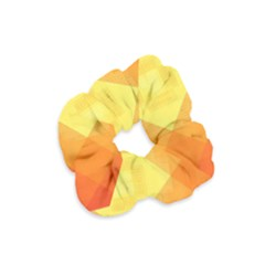 Pattern Retired Background Orange Velvet Scrunchie