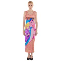 Unicorn Dreams Fitted Maxi Dress by tonitails
