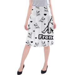 French Bulldog Midi Beach Skirt by Valentinaart