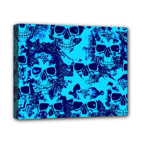 Cloudy Skulls Blue Canvas 10  X 8  by MoreColorsinLife