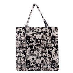 Elvis Presley Pattern Grocery Tote Bag by Valentinaart