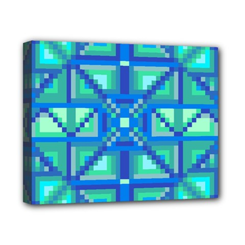 Grid Geometric Pattern Colorful Canvas 10  X 8