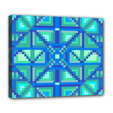 Grid Geometric Pattern Colorful Deluxe Canvas 24  X 20