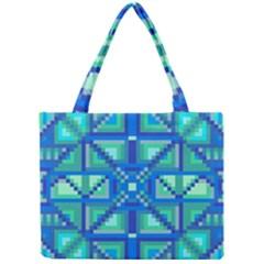 Grid Geometric Pattern Colorful Mini Tote Bag by Nexatart