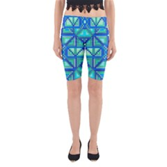 Grid Geometric Pattern Colorful Yoga Cropped Leggings