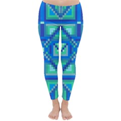 Grid Geometric Pattern Colorful Classic Winter Leggings