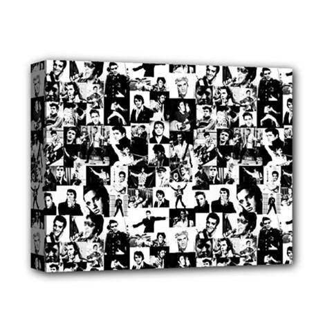 Elvis Presley Pattern Deluxe Canvas 14  X 11  by Valentinaart