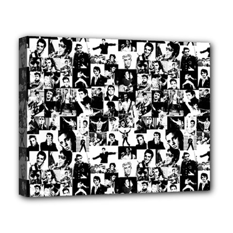 Elvis Presley Pattern Deluxe Canvas 20  X 16   by Valentinaart