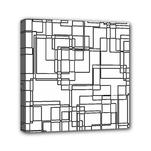 Structure Pattern Network Mini Canvas 6  X 6  by Nexatart