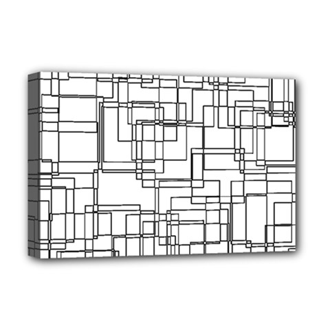 Structure Pattern Network Deluxe Canvas 18  X 12