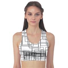 Structure Pattern Network Sports Bra