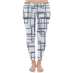 Structure Pattern Network Classic Winter Leggings