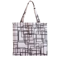 Structure Pattern Network Zipper Grocery Tote Bag by Nexatart