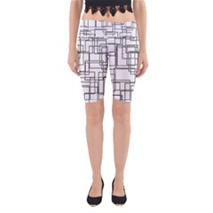 Structure Pattern Network Yoga Cropped Leggings