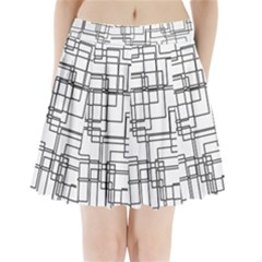 Structure Pattern Network Pleated Mini Skirt